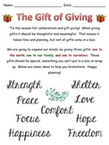 Writing Project: The Gift of Giving