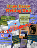 """Essay Writing Unit: 16 Lessons on: """"How to Write an Essay"""""""