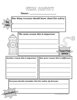 Writing Essays: Fire Safety for Intermediate Grades