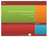 Writing Essays in 5th  Grade: tips, activities, checklists, and organizers