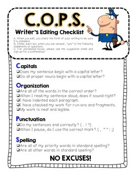 Writing Essentials - Checklist and References