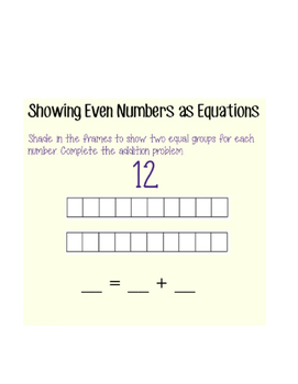 Writing Even Numbers as Equations