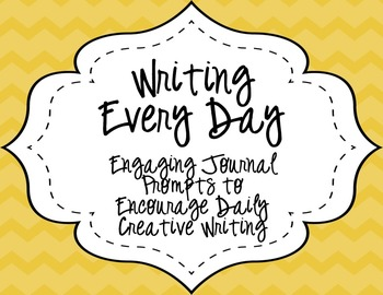 Writing Everyday: October through December Daily Writing Prompts
