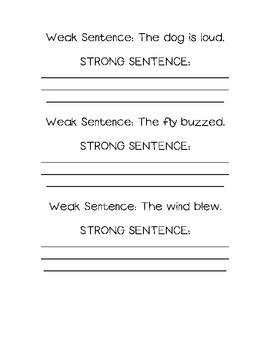 Writing Exercises for Stronger Sentences