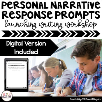 Personal Narratives-Writing Exit Slips for Launching Writing Workshop-Grades 3-6