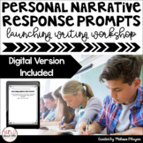 Personal Narrative Launching Writing Workshop Exit Tickets - Distance Learning
