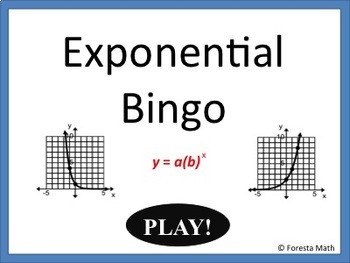 Writing Exponential Equations Bingo