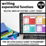 Writing Exponential Functions Digital Math Activity