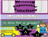Writing Exponential Functions From a Table Foldable