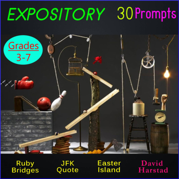 Writing Expository: 30 Printable Prompts (Grades 3-7)