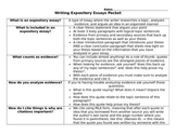 Writing Expository Essays Packet