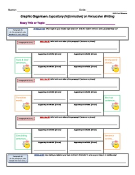 Writing - Expository (Informative) / Persuasive - Pillar (for 5-Paragraph Essay)