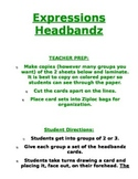 Writing Expressions-Headbands Game