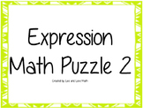 Writing Expressions Puzzle