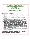 Writing Expressions: Scavenger Hunt