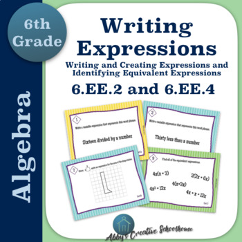 6.EE.2 6.EE.4 Task Cards Writing Expressions