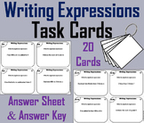 Writing Expressions Task Cards/ Algebraic Expressions Task Cards 5th 6th 7th 8th
