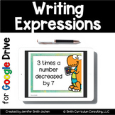 Writing Expressions Task Cards for Google Drive for Distan