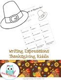 Writing Expressions Thanksgiving Riddle