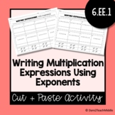 Writing Multiplication Expressions Using Exponents | Cut &