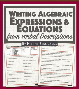 Writing Expressions and Equations 8.8B