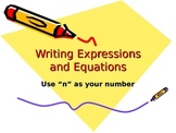 Writing Expressions and Equations Practice