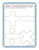 Writing Expressions and Equations Printable Station Activities