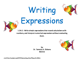 Writing Expressions - translating word to mathematical expressions