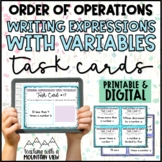 Writing Expressions with Variables Task Cards