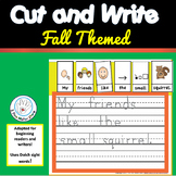 Writing -  FALL CUT AND WRITE Sentences with Dolch sight words!