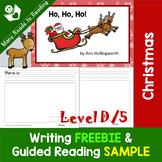 Writing FREEBIE and Christmas Guided Reading Book SAMPLE Ho, Ho, Ho