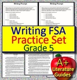5th Grade FSA Writing Practice Set Passages with Opinion Prompts