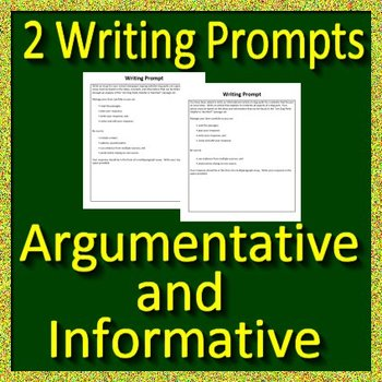 Writing FSA Practice Set Grade 6 Passages w/ Informative ...