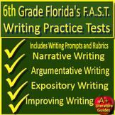 6th Grade FSA Writing Practice Set Passages w Informative + Argumentative Prompt