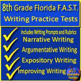 8th Grade FSA Writing Practice Set Passages w Informative + Argumentative Prompt