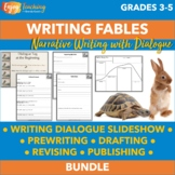 Writing Fables - Narrative Writing Activity (PDF or Editable Google Slides™️)
