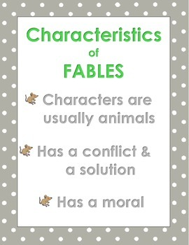 Fable Writing & Reading - Aligns with Common Core ELA