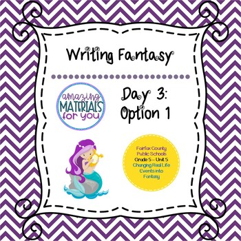 Writing fantasy story teaching resources teachers pay teachers writing fantasy lesson 3 option 1 fandeluxe Image collections