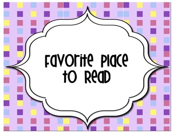 Writing: Favorite Place to Read