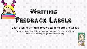 Writing Feedback Labels