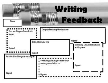 Writing Feedback form