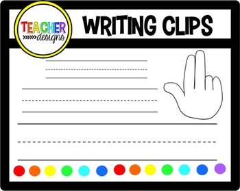 Writing / Finger Space Clip Art