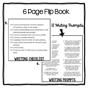 Writing Flip Books and Graphic Organizers
