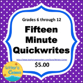 Writing Fluency: 15 Minute Quickwrites  CCSS, Test Prep, Fun, Sub Plan