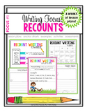 Writing Focus #1: Recount Writing