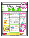 Writing Focus #4: Opinion Writing