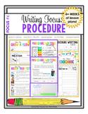 Writing Focus #6: Procedure / How To Writing