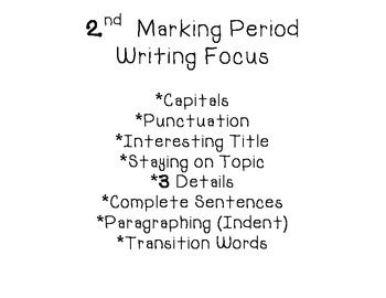 Writing Focus Posters