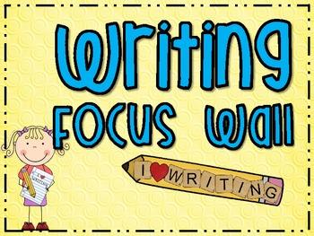 Writing Focus Wall {FREEBIE}