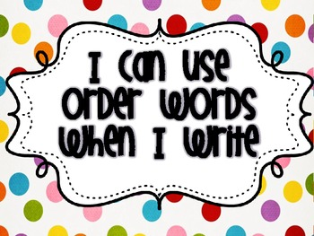 Writing Focus Wall Sequence Words {FREEBIE}
